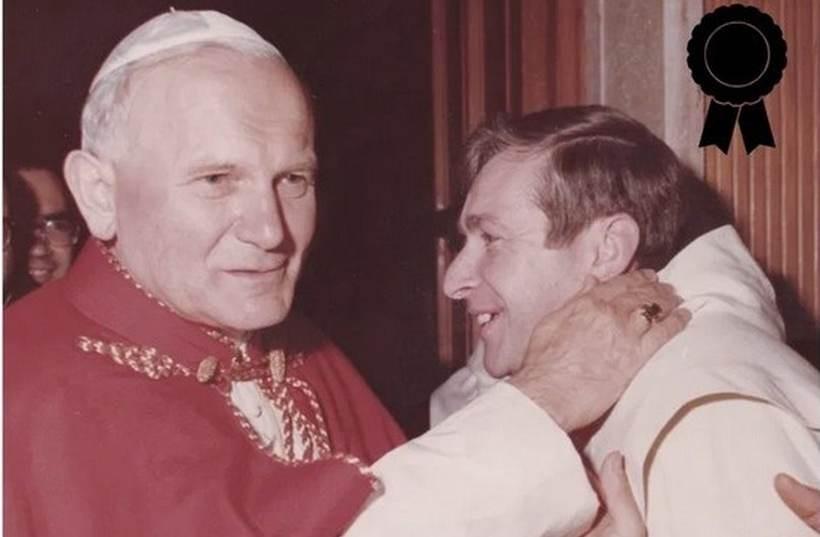 Brat z Franciszek z Janem Pawłem II