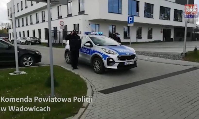 Wadowiccy policjanci oddali hołd zabitemu na służbie koledze