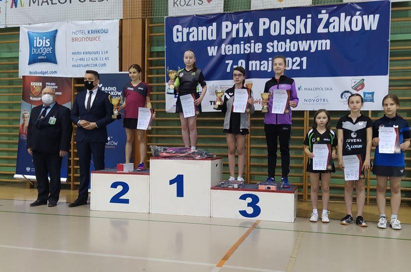 Zuzia z Inwałdu najlepszą tenisistką stołową w Polsce wśród żaków!
