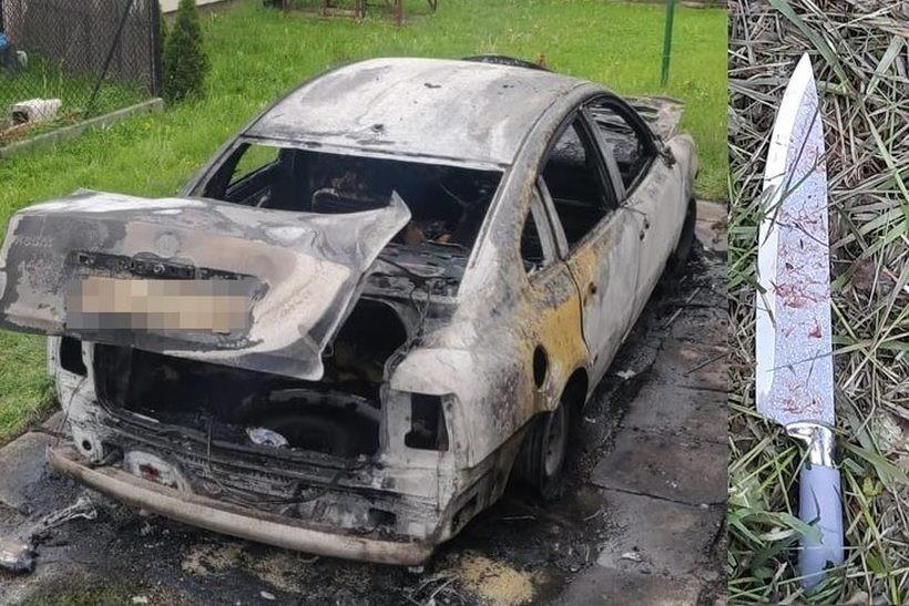 Najpierw podpaliła auto, później probowała zabić. Taka akcja całkiem niedaleko