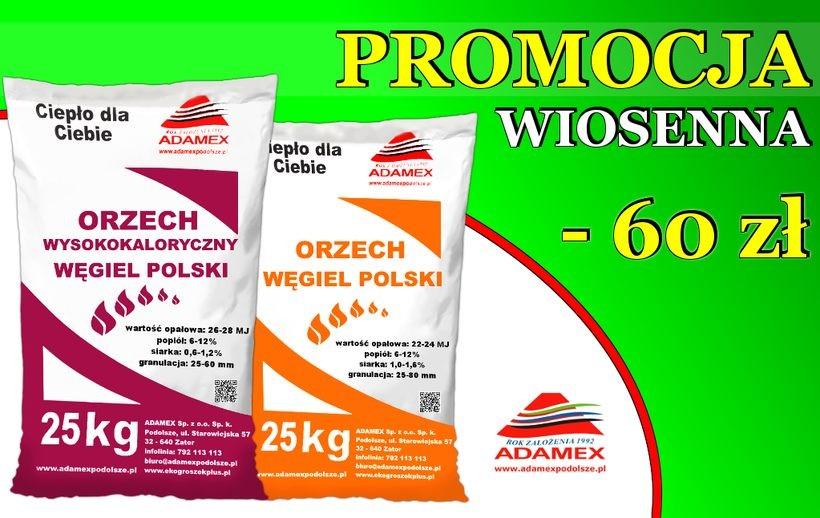 W firmie ADAMEX jeszcze wiosna i… promocyjne ceny opału!