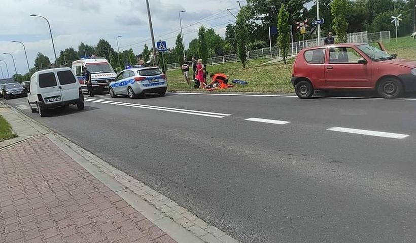 Potrącenie pieszego w Wadowicach na obwodnicy