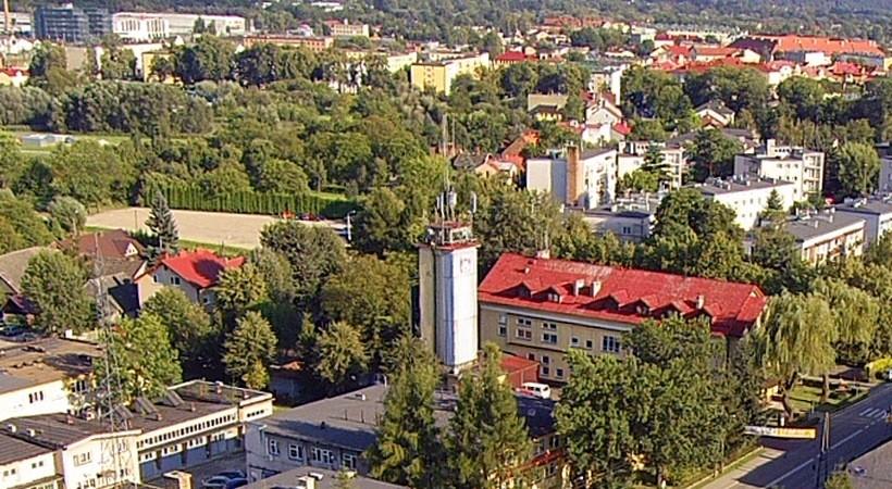 Stara strażnica w Wadowicach jest obecniee siedzibą zawodowej straży. Kiedyś należała do OSP