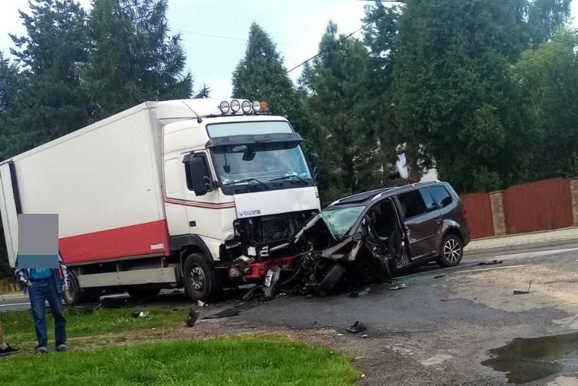 75-letni kierowca ciężarówki, mieszkaniec powiatu wadowickiego, nie miał szans na reakcję
