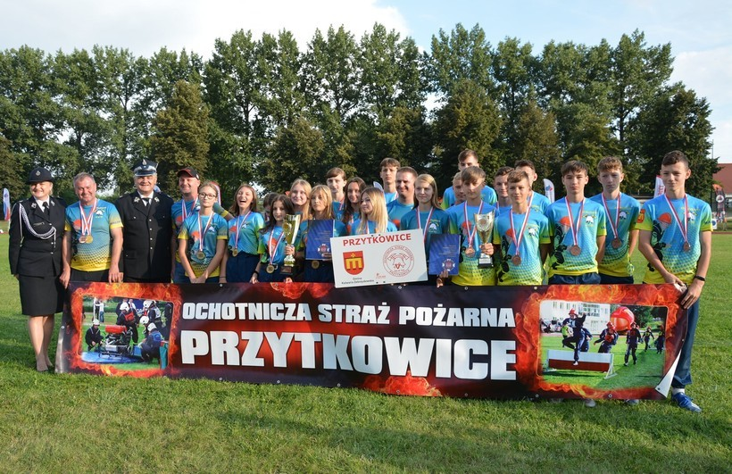 Duży sukces młodych strażaków z Przytkowic na mistrzostwach Polski