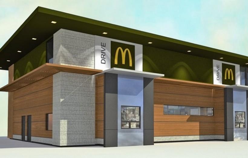 Pomysł na budynek McDonald's, który miaby stanąć przy obwodnicy