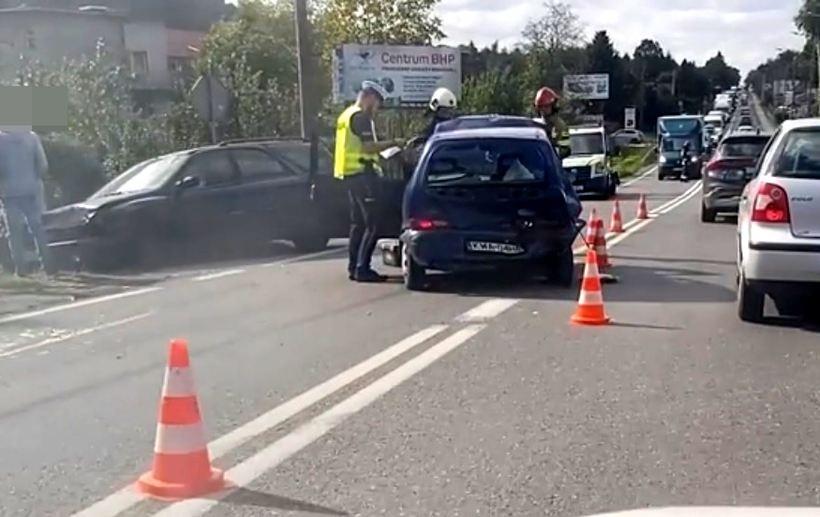 Poważny wypadek na granicy Andrychowa i Inwałdu. Jedna osoba poszkodowana