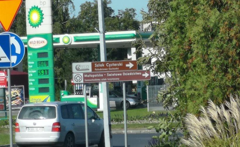 Benzyna w Wadowicach na pierwszy dzień października  5.91zł
