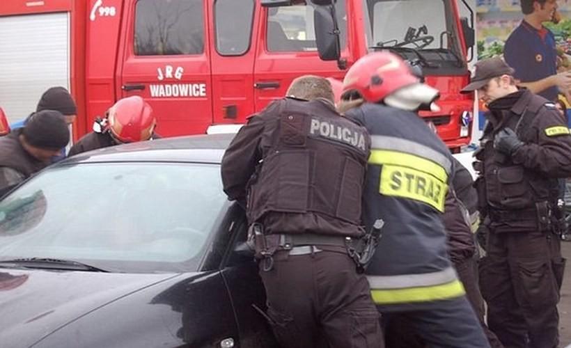 W Wadowicach kilka lat temu strażacy też ratowali dziecko zatrzaśnięte w samochodzie