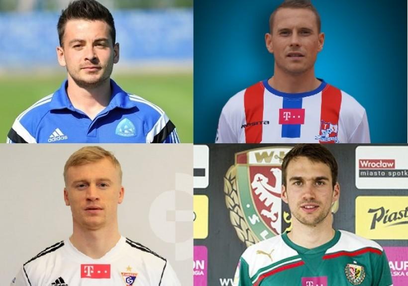 Czterech piłkarzy pochodzących z naszego powiatu: Michał Szewczyk oraz Damian Chmiel (na górze od lewej) oraz Mariusz Magiera i Adam Kokoszka (na dole od prawej) zagra w tym sezonie w ekstraklasie.