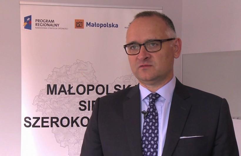 Piotr Majchrzak, prezes spółki Hyperion, odpowiedzialnej za projekt Małopolskiej Sieci Szerokopasmowej