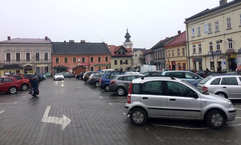 Parking na placu Kościuszki w Wadowicach