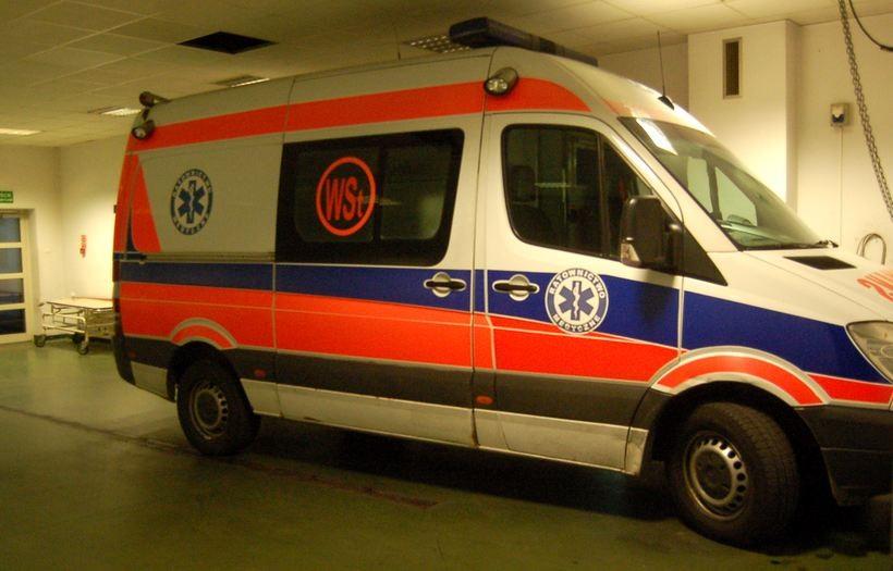 Do szpitala trafiła kobieta poszkodowana w pożarze