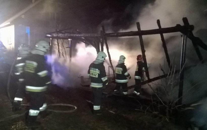 Budynek gospodarczy spłonął doszczętnie