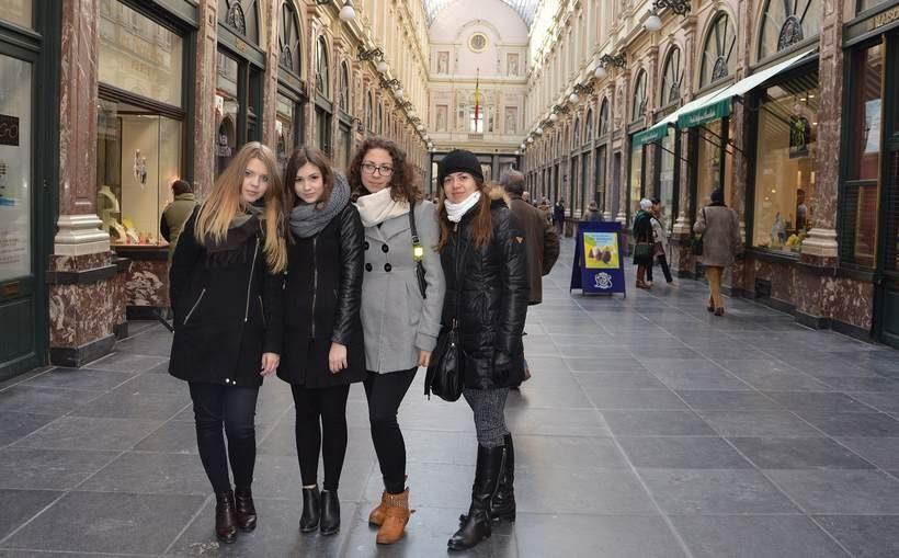 Dziewczyny z Ekonomika zwiedzały Brukselę. Wszystko dzięki wygranej w konkursie