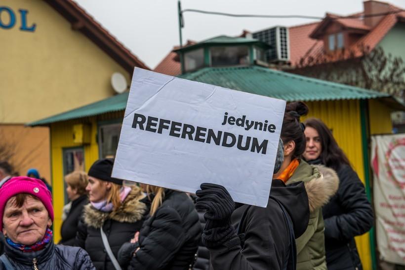 Protest na placu Kościuszki