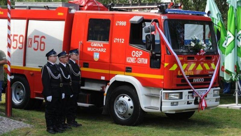 Strażacy ochotnicy z Kozińca dostali ostatnio samochód gaśniczy IVECO