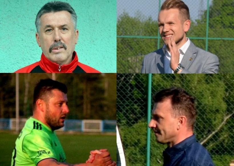 Na górze od lewej: Edward Wandzel i Grzegorz Staszewski. Na dole od lewej Filip Niewidok i Michał Jezioro