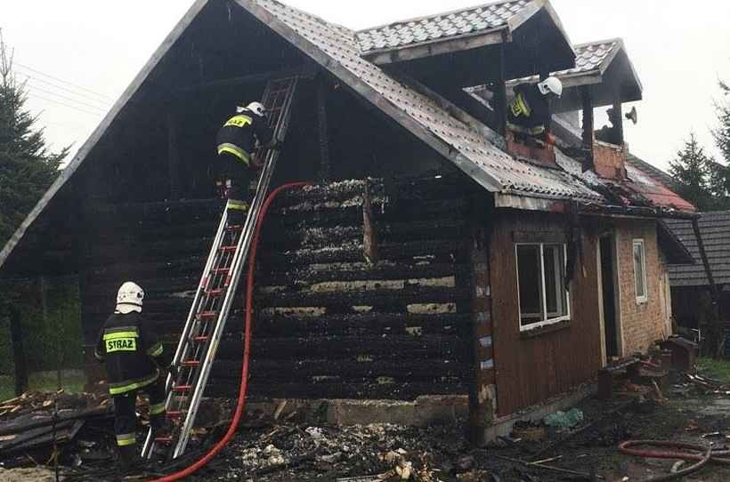 Pożar domu w Przytkowicach