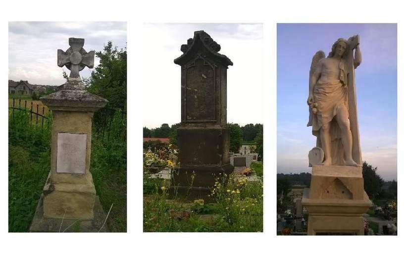 To trzy z pięciu nagrobków, kótre gmina chce wpisać do rejestru zabytków
