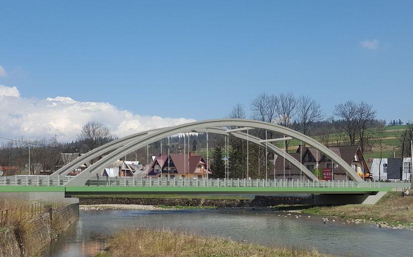Projekcja mostu w Białym Dunajcu