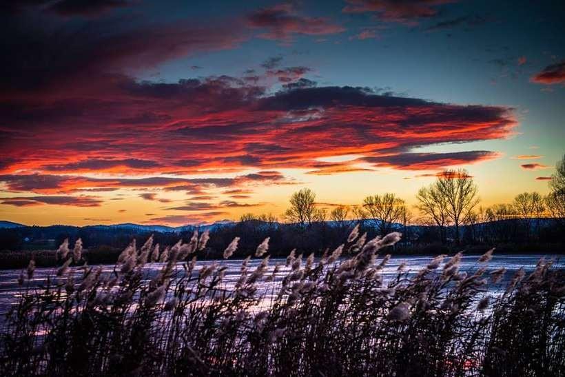 Niedzielny zachód słońca nad Frydrychowicami