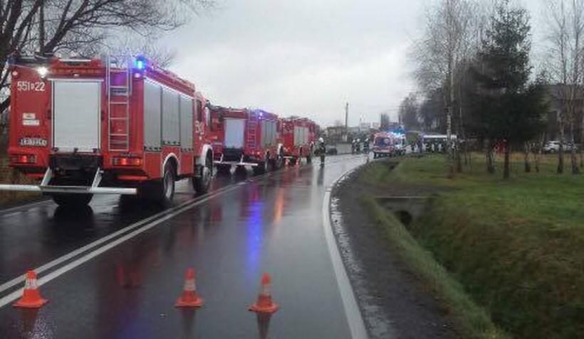 Poważny wypadek w Brzeźnicy. Sześć osób trafiło do szpitala