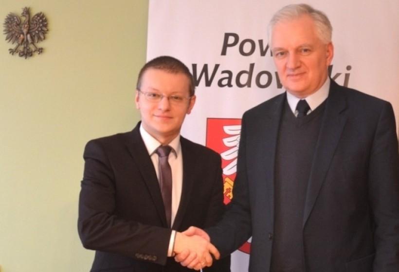 Wicepremier Jarosław Gowin i starosta Bartosz Kaiński