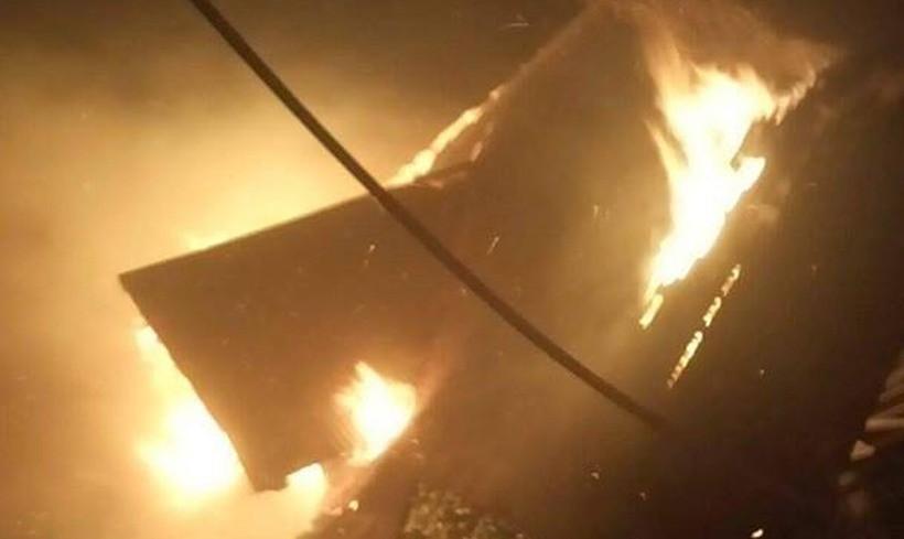 Pożar w Łączanach
