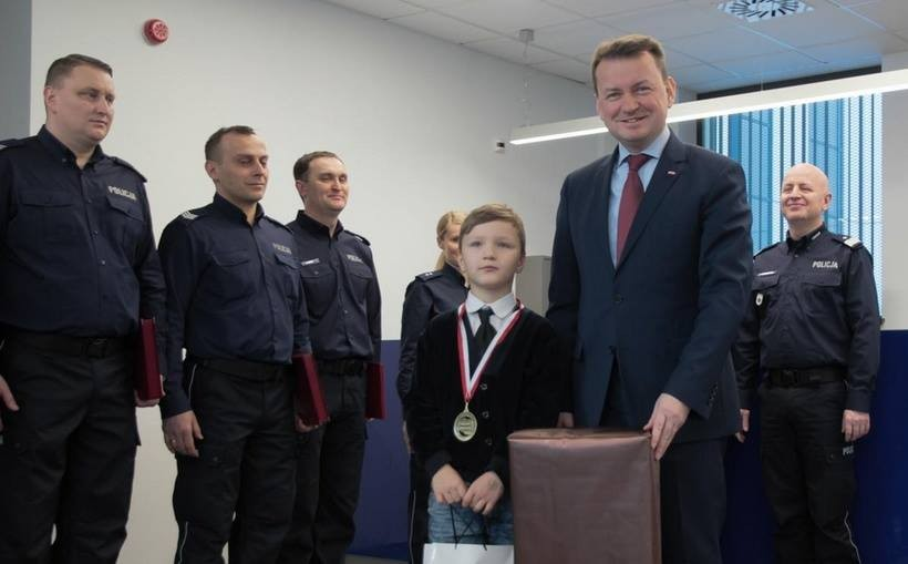 Wadowiczanin Łukasz Pietraszek i minister Mariusz Błaszczak