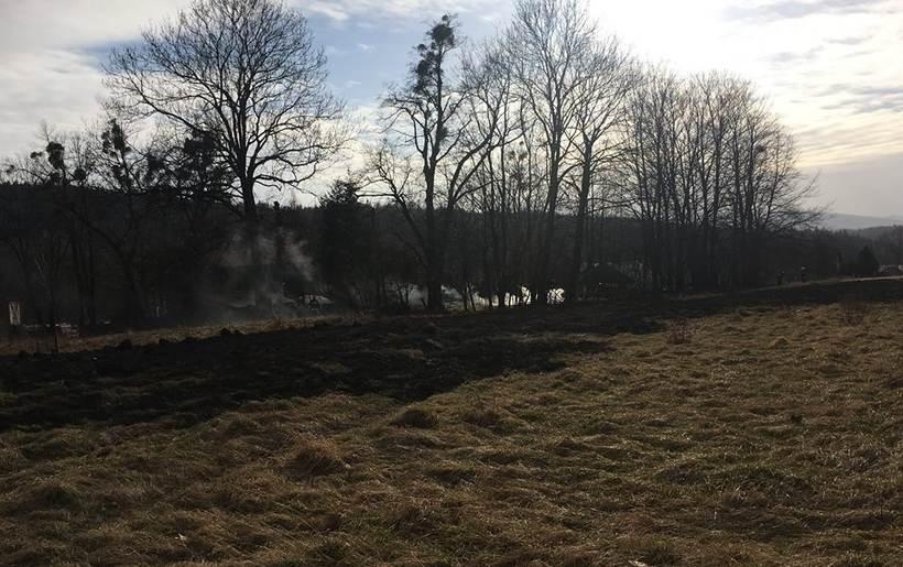 Pożar w Kalwarii