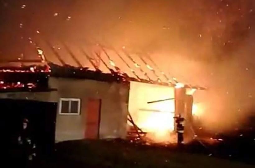 Pożar stodoły w Łączanach