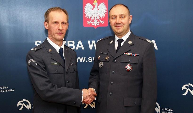 Szefem wadowickiego więziennictwa jest teraz major Jakub Pindel - z lewej