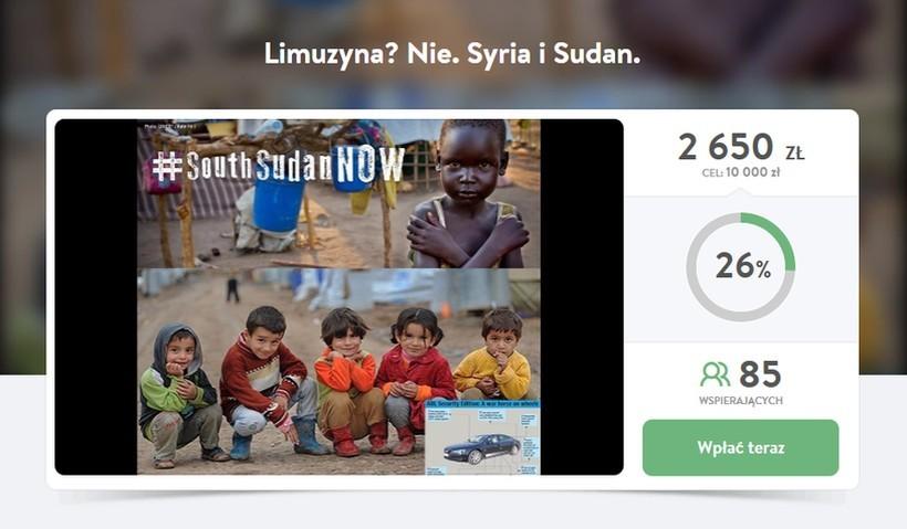 """Wadowiczanin zbierał na limuzynę """"dla Pani premier"""", a wpłacił pieniądze na pomoc dzieciom z Syrii i Sudanu"""