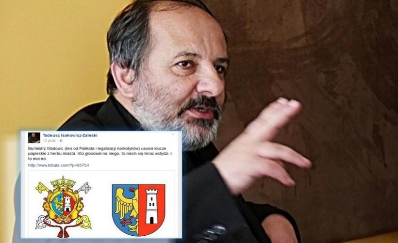 """Ksiądz Isakowicz - Zaleski oburzony na burmistrza Klinowskiego. """"Kto głosował na niego, niech się teraz wstydzi"""""""
