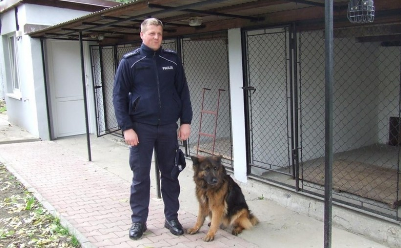 Do wytropienia złodzieja policja użyła psa