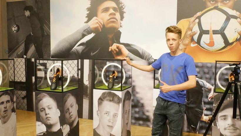 Jakub Żak na prezentacji nowych butów Nike w Moskwie