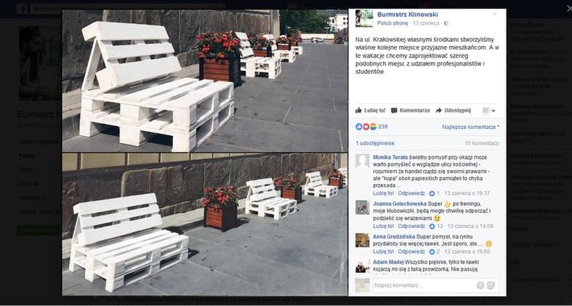 """Cała prawda o ławkach z palet wykonanych """"własnymi środkami"""". Asystentka burmistrza ujawniła, ile zapłacili"""
