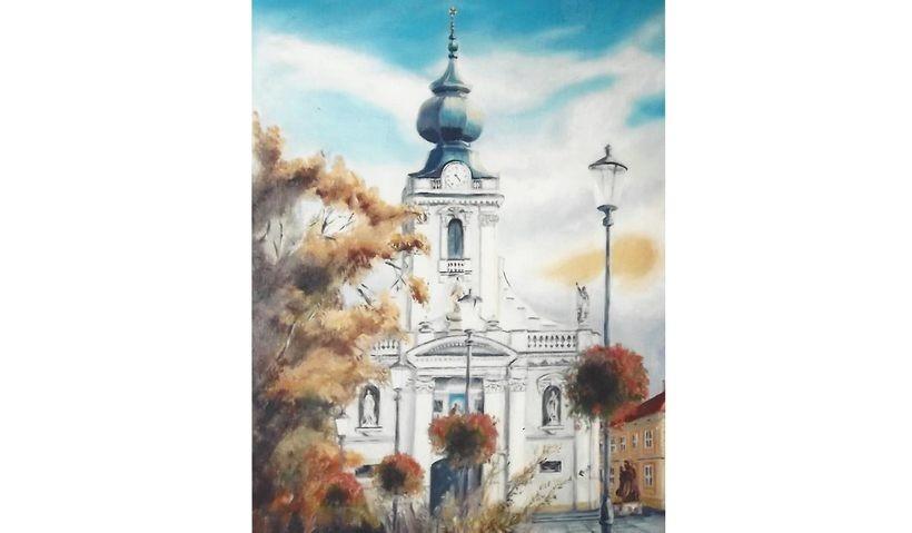 Wadowice na obrazie Sylwii Prażmowskiej-Kulig