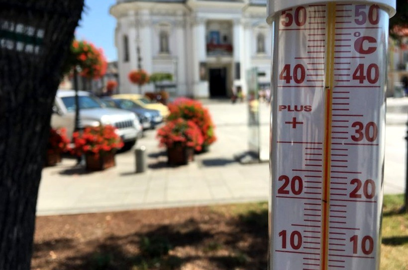 Rekorodowa temperatura w Wadowicach - 40 stopni w cieniu