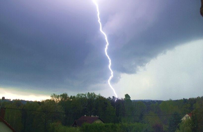 Burza nad powiatem