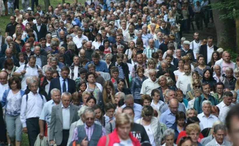 Na uroczystościach w Kalwarii już teraz jest wiele osób