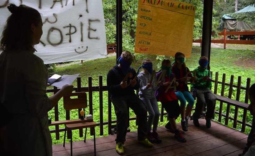 Na biwaku w Zalesiu dzieciaki świetnie się bawiły