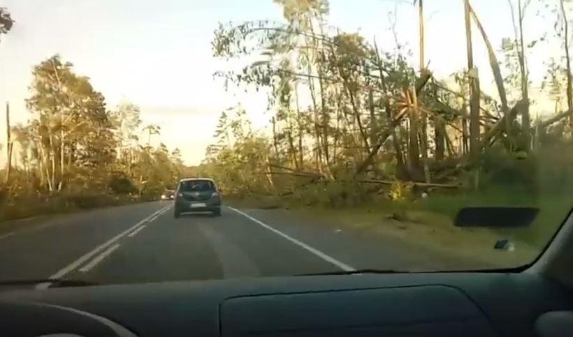 Kard z filmu nagranego w gminie Czersk zaraz po nawałnicy