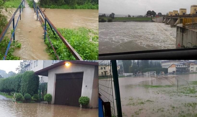 W czwartek w powiecie lokalne rzeki wystąpiły z brzegów