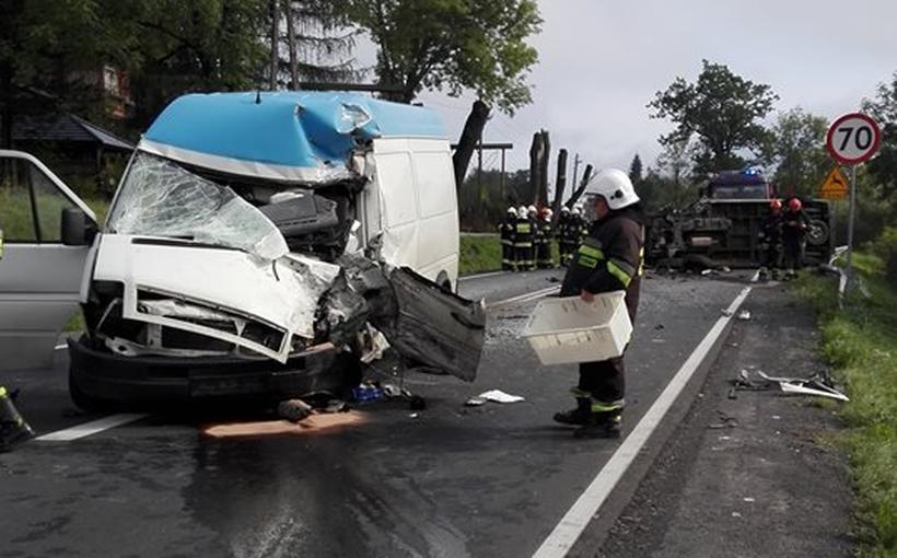 Wypadek na DK52 pod Kalwarią Zebrzydowską