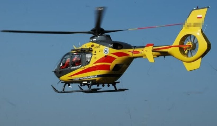 Poważny wypadek motocyklisty w Gierałtowicach. Nieprzytomnego zabrał helikopter (FOTO)