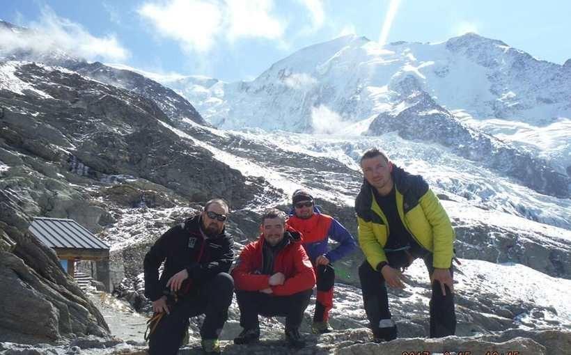 Przemek co dopiero zdobył Mont Blanc
