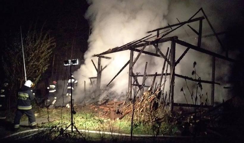 Pożar stodoły w Przytkowicach