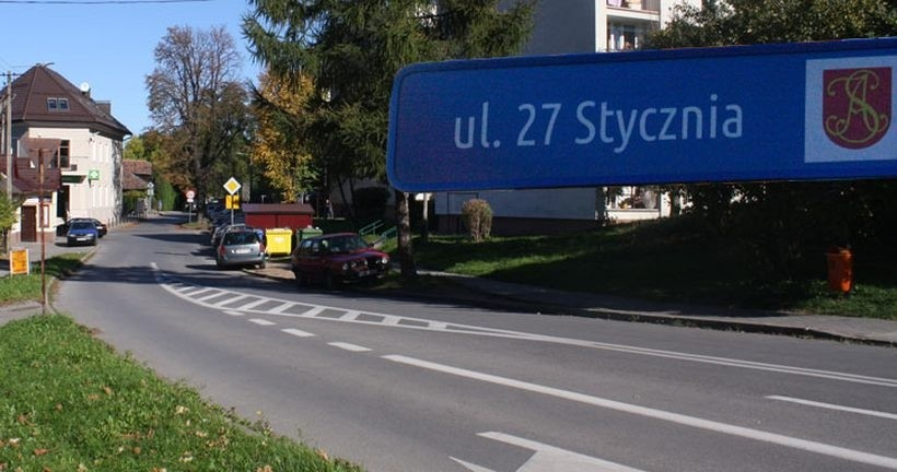Ulica 27 stycznia w Andrychowie